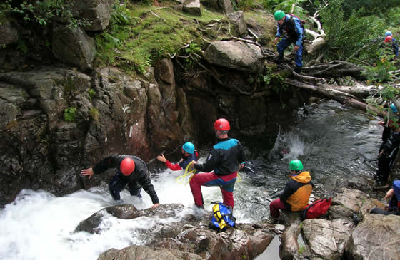 Gorge Scrambling in the Lake District